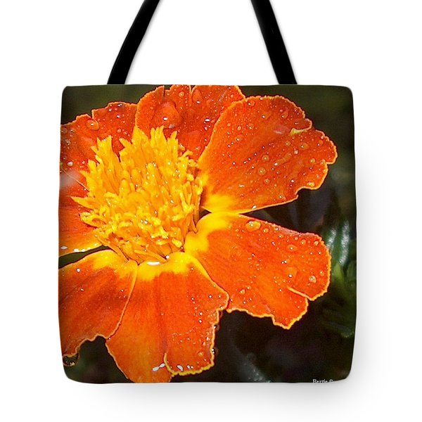 Orange Flower Tote Bag