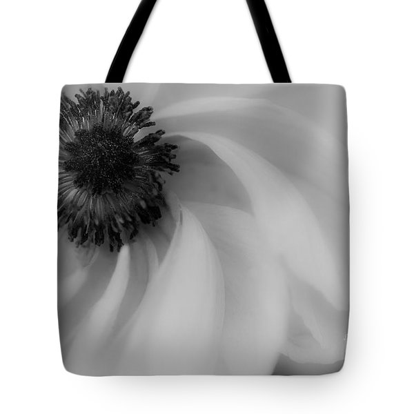 Orange Flower In Black And White Tote Bag