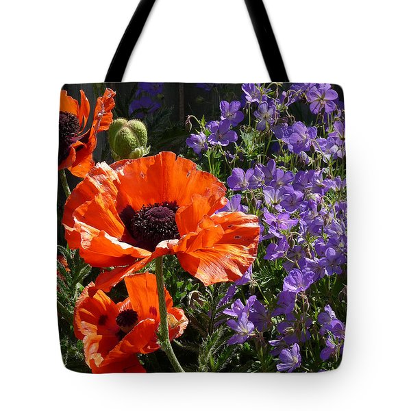 Orange Flowers Tote Bag by Alan Socolik