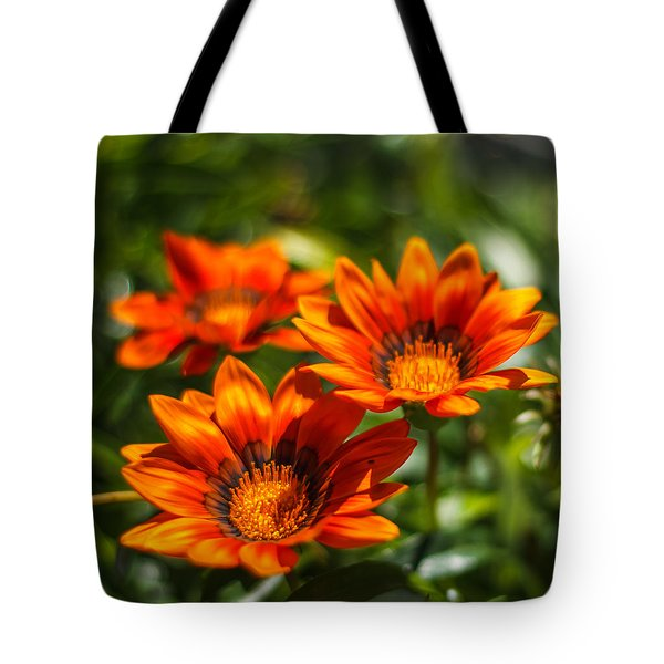 Tote Bag featuring the photograph Orange Flowers by Jane Luxton