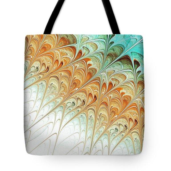 Orange Folium Tote Bag by Anastasiya Malakhova