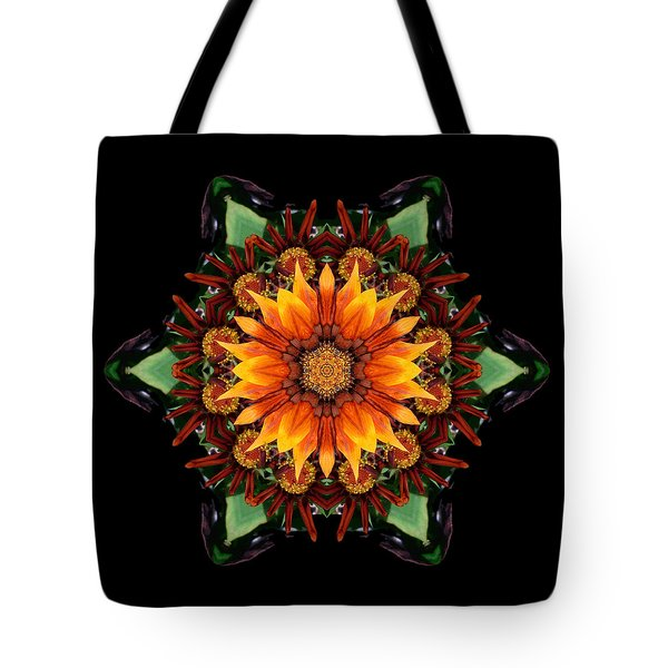 Orange Gazania IIi Flower Mandala Tote Bag