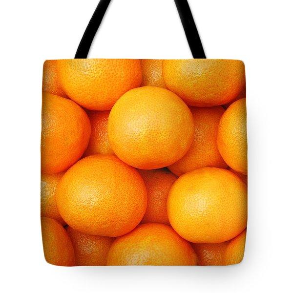 Orange Geometry Tote Bag