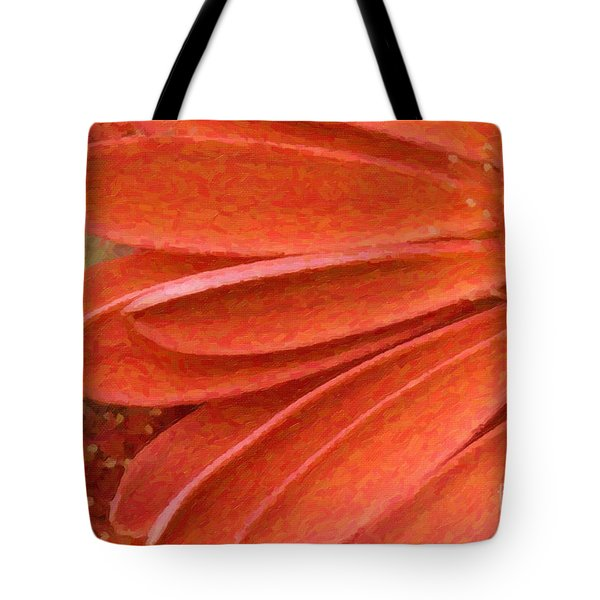 Orange Gerber Daisy Painting Tote Bag