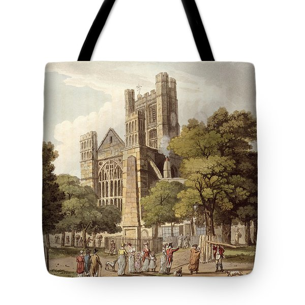 Orange Grove, From Bath Illustrated Tote Bag by John Claude Nattes