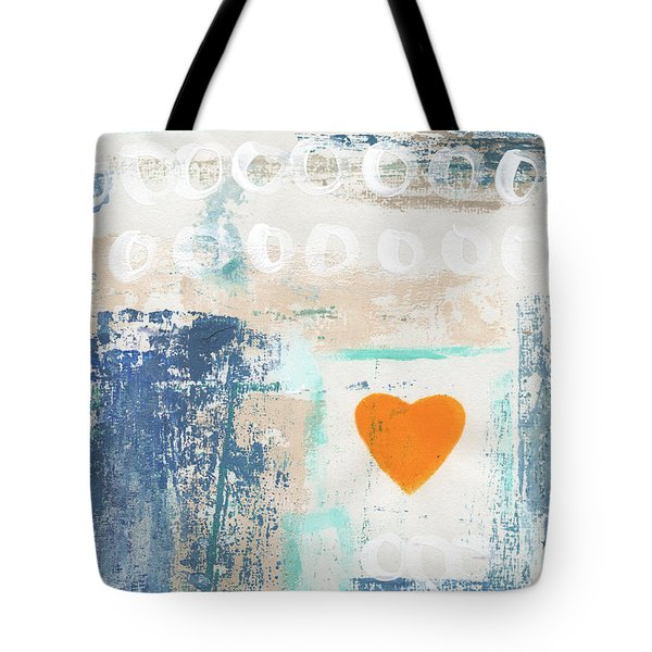Orange Heart- Abstract Painting Tote Bag