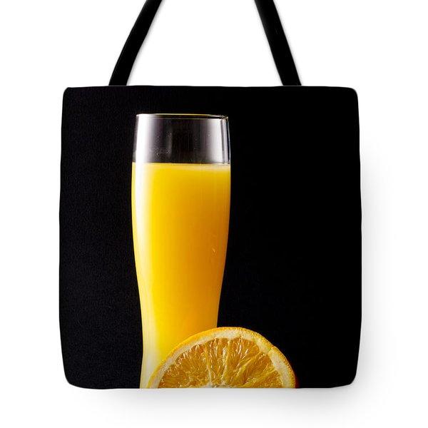 Orange Juice Tote Bag by Gergana Chakalova