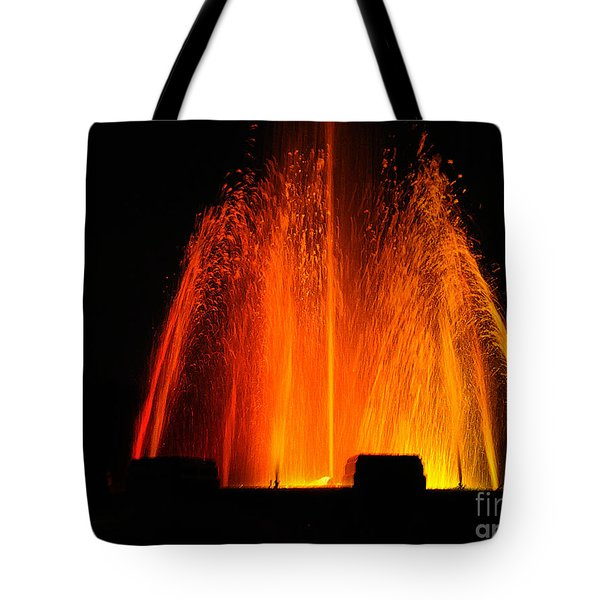 Tote Bag featuring the photograph Orange Lava by Clayton Bruster