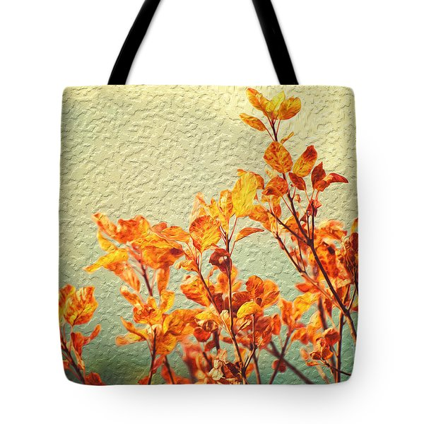 Tote Bag featuring the photograph Orange Leaves by Yew Kwang