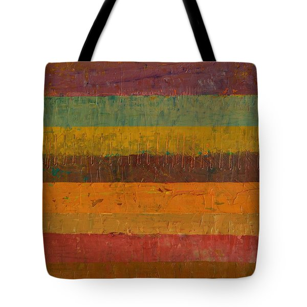 Orange Line Tote Bag