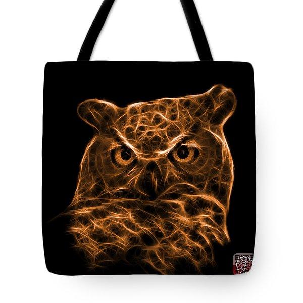 Orange Owl 4436 - F M Tote Bag by James Ahn