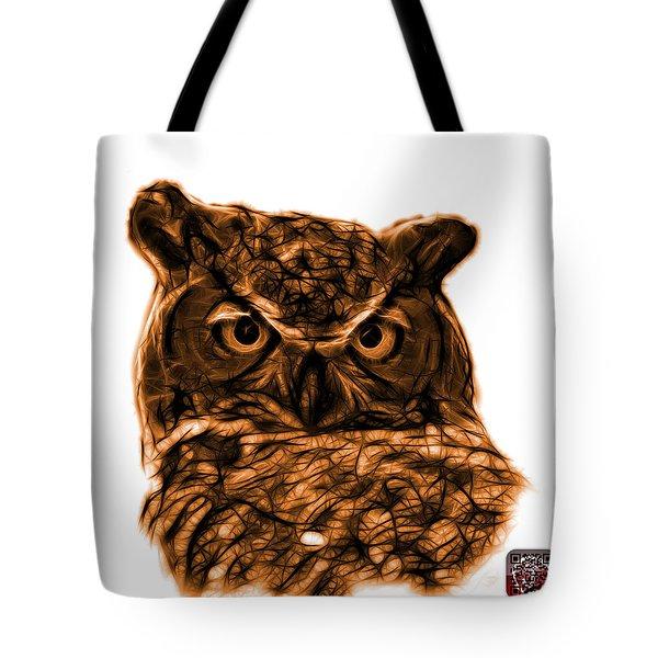 Orange Owl 4436 - F S M Tote Bag by James Ahn