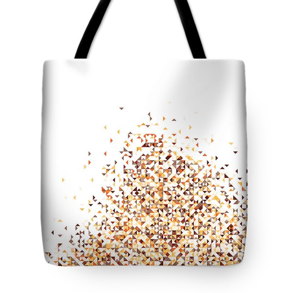 Orange Pixels Tote Bag
