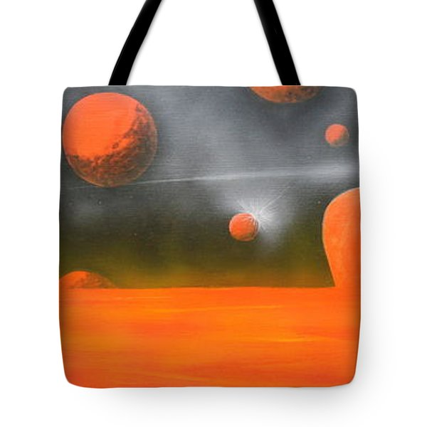 Orange Planet Tote Bag