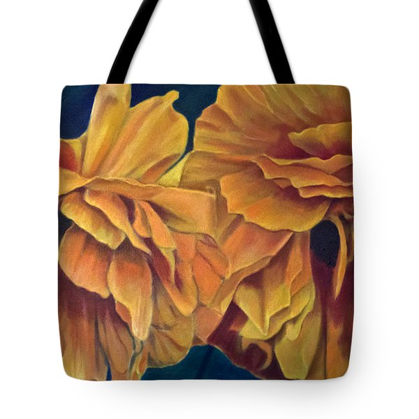 Tote Bag featuring the painting Orange Poppies by Ron Richard Baviello