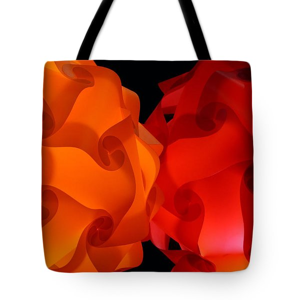 Orange Red-orange Tote Bag