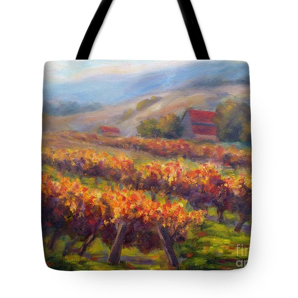 Orange Red Vines Tote Bag