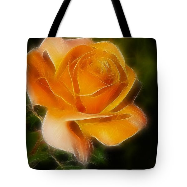 Orange Rose 6292-fractal Tote Bag by Gary Gingrich Galleries