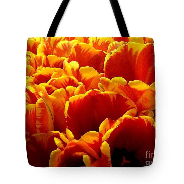 Orange Sea Tote Bag by Lauren Leigh Hunter Fine Art Photography