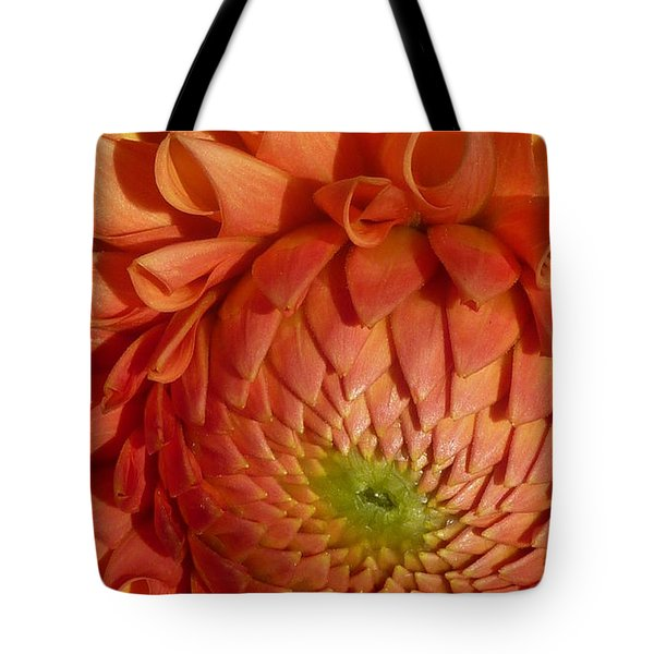 Tote Bag featuring the photograph Orange Sherbet Delight Dahlia by Susan Garren