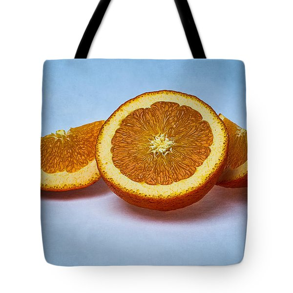 Orange Sliced Tote Bag by Alexander Senin