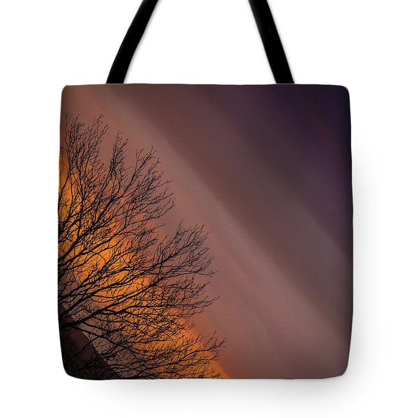 Orange Sunrise Tote Bag