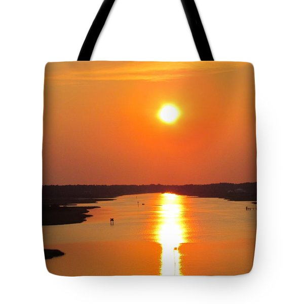 Tote Bag featuring the photograph Orange Sunset by Cynthia Guinn