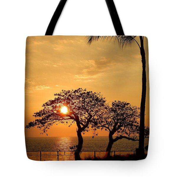 Orange Sunset Tote Bag by Pamela Walton