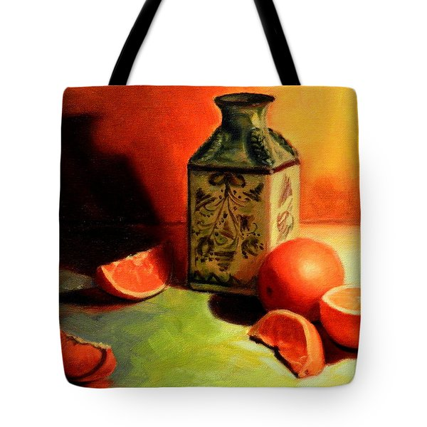 Orange Temptation Tote Bag