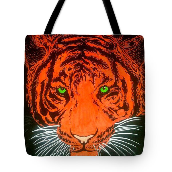 Orange Tiger Tote Bag
