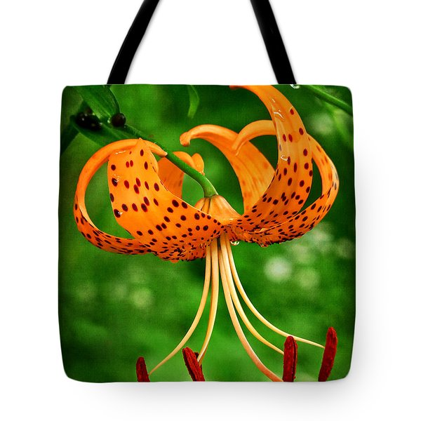 Orange Tiger Lily Tote Bag