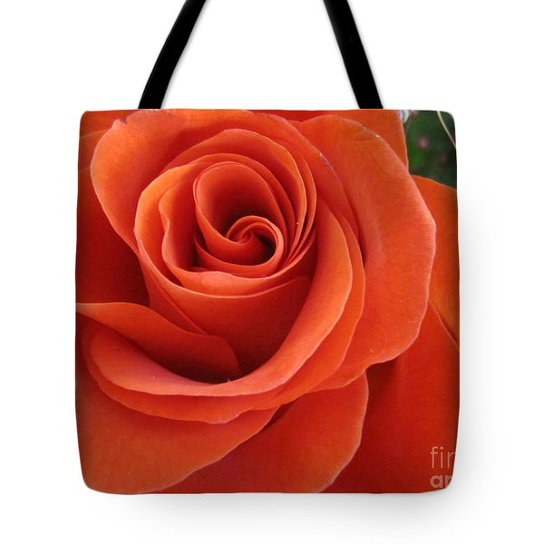 Orange Twist Rose 2 Tote Bag