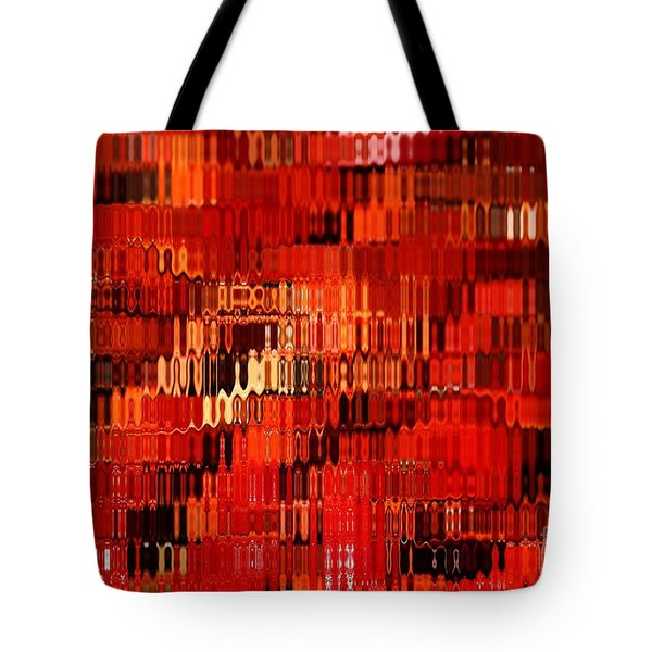 Orange Under Glass Abstract Tote Bag by Carol Groenen