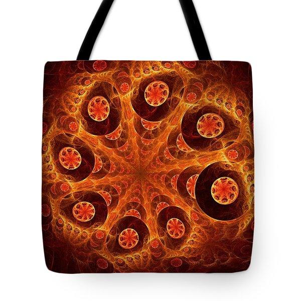 Orange Vision Tote Bag by Anastasiya Malakhova