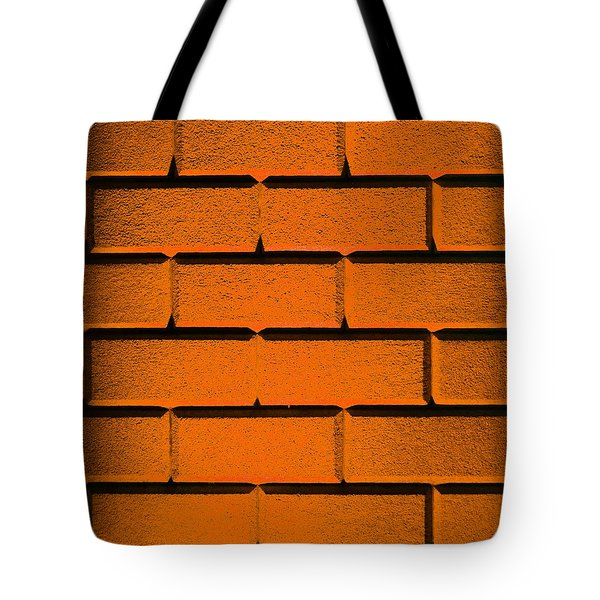Orange Wall Tote Bag by Semmick Photo