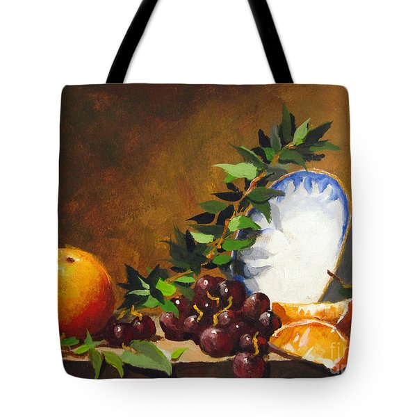 Orange With Bowl Tote Bag