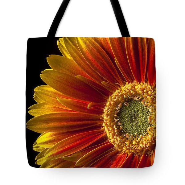 Orange Yellow Mum Close Up Tote Bag by Garry Gay