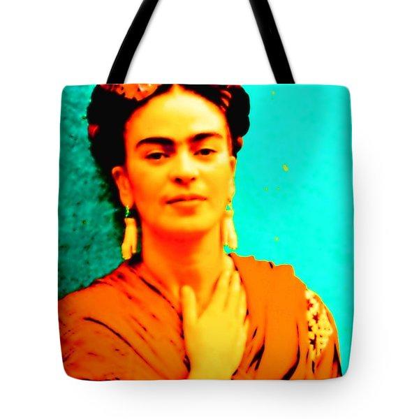 Orange You Glad It Is Frida Tote Bag