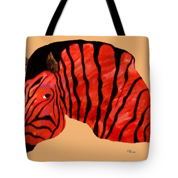 Orange Zebra Tote Bag by Andrew Petras