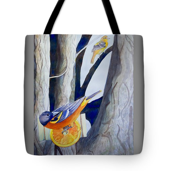 Oranges And Orioles Tote Bag