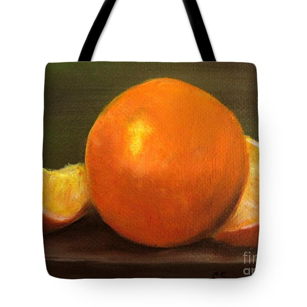 Tote Bag featuring the painting Oranges by Carol Sweetwood