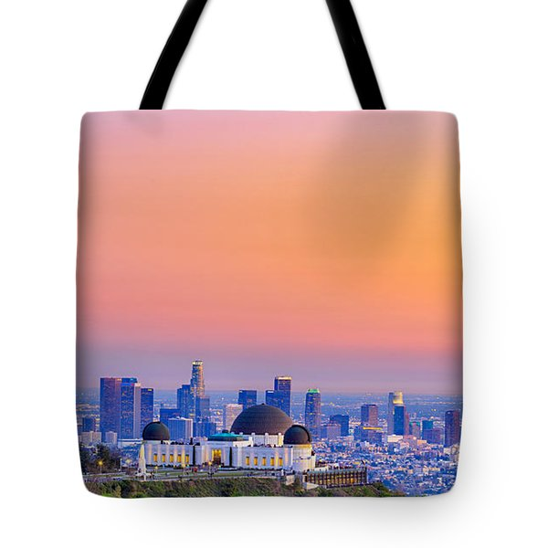 Orangesicle Griffith Observatory Tote Bag