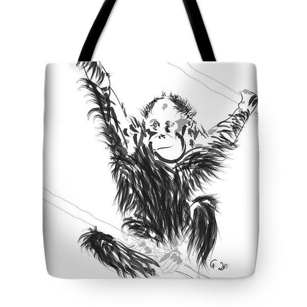 Orangutan Baby Tote Bag