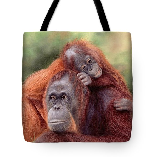 Orangutans Painting Tote Bag