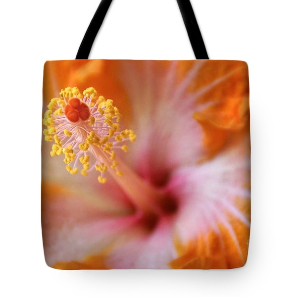 Orangy Goodness Tote Bag by Peggy Hughes