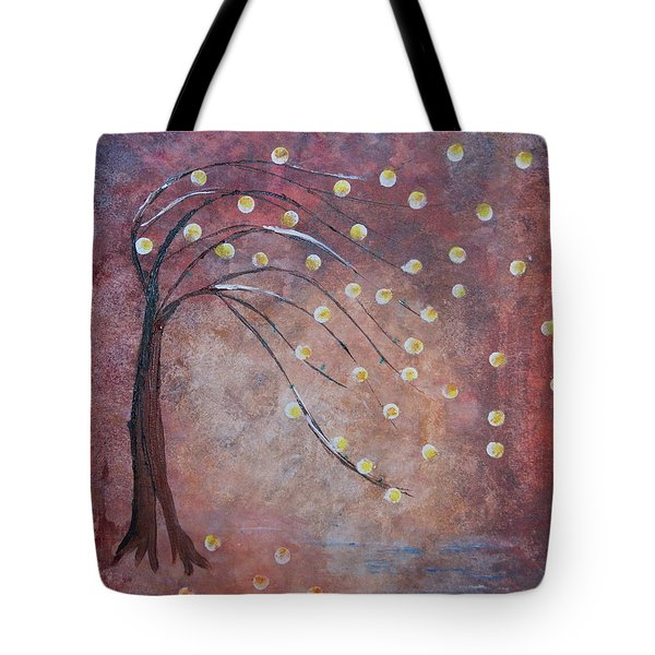 Tote Bag featuring the painting Orb Oak by Denise Tomasura