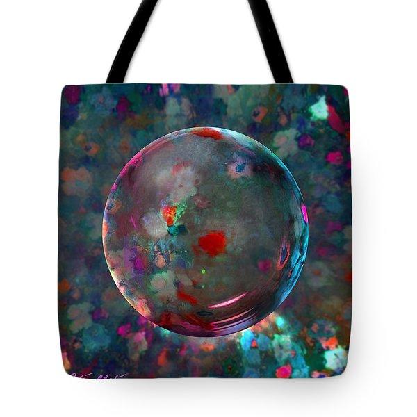 Orbed In Spring Blossom Tote Bag