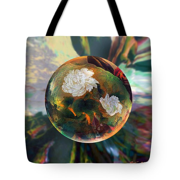 Tote Bag featuring the painting Oriental Abstract  by Robin Moline