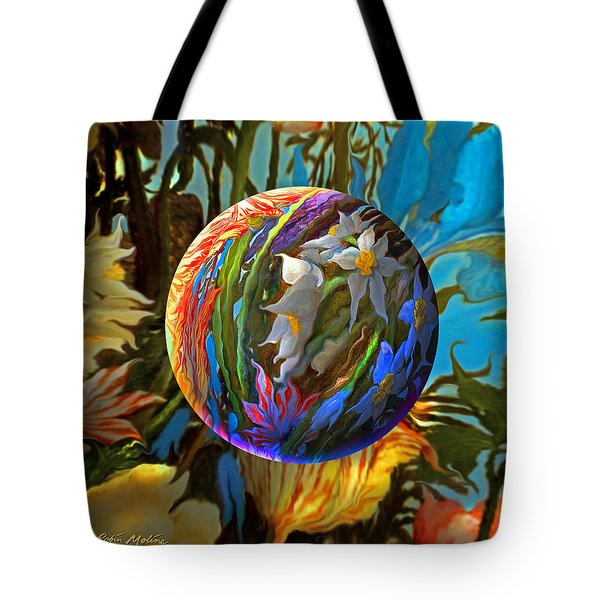 Orbing Aloha Lei Tote Bag by Robin Moline