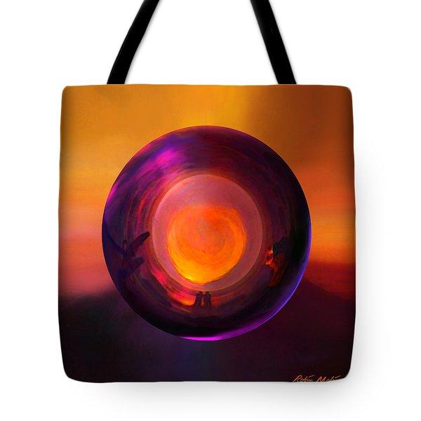 Orbing An Evening Sunset Tote Bag